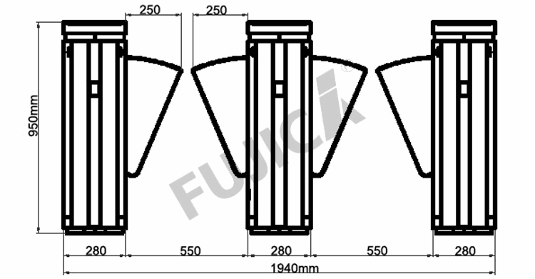 Flap Barriers FJC Z1358 7